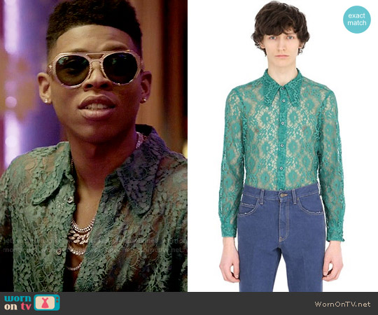 Gucci Lace Shirt With 70's Style Collar worn by Bryshere Y. Gray on Empire