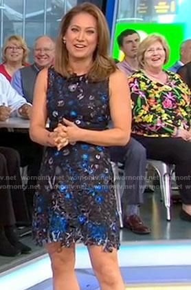 Ginger's black floral lace dress on Good Morning America