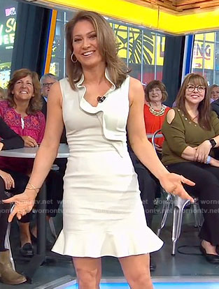Ginger's pale green ruffled dress on Good Morning America