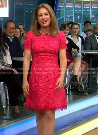 Ginger's pink lace dress on Good Morning America
