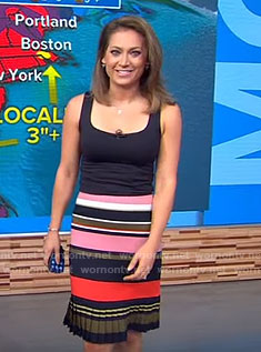 Ginger's striped skirt on Good Morning America