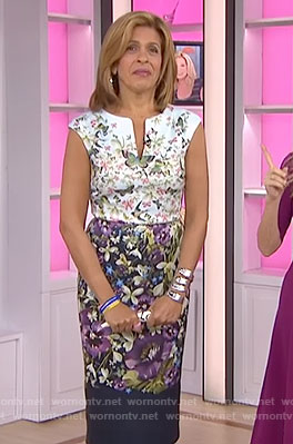 Hoda's floral print dress on Today