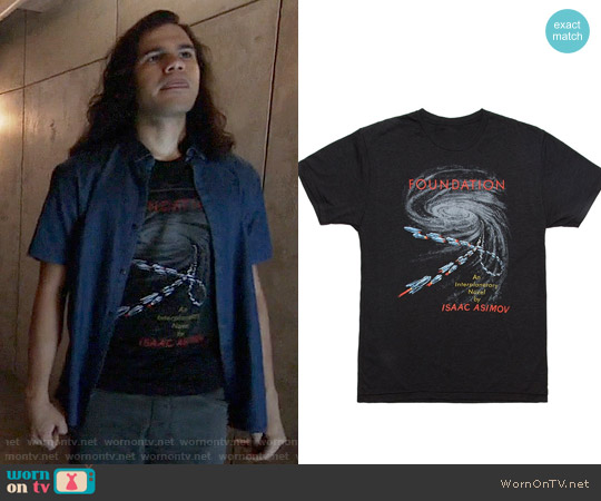 Out Of Print Isaac Asimov's Foundation T-shirt worn by Carlos Valdes on The Flash