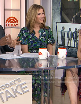 Jenna's green floral print dress on Today