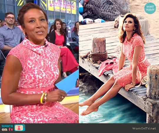 Eva Mendes Collection Jovanna Dress by New York & Company worn by Robin Roberts  on Good Morning America