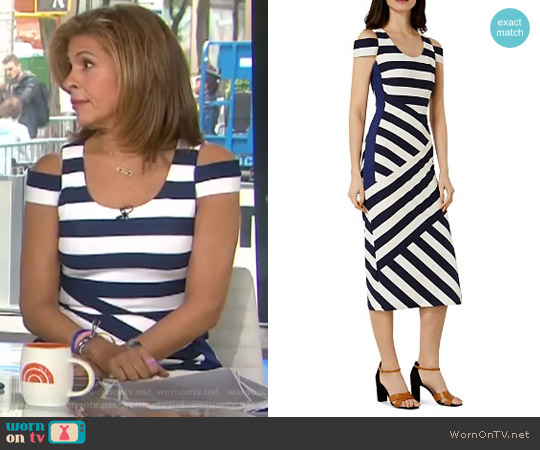 Cold-Shoulder Midi Dress by Karen Millen worn by Hoda Kotb  on Today
