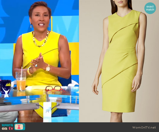 Folded Pencil Dress by Karen Millen worn by Robin Roberts  on Good Morning America