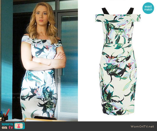 Karen Millen Lily Print Pencil Dress worn by Petra Solano (Yael Grobglas) on Jane the Virgin