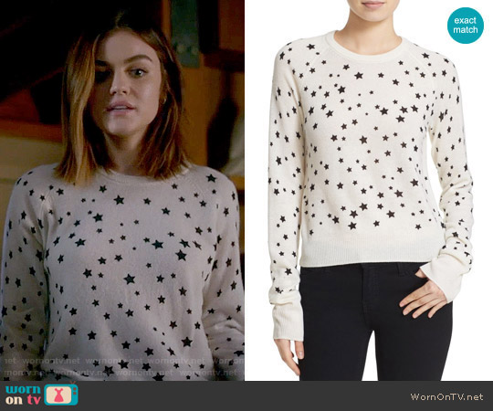 Kate Moss for Equipment Ryder Star Print Sweater worn by Lucy Hale on PLL