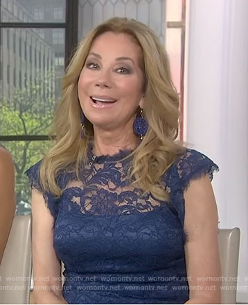 Kathie's blue lace dress on Today