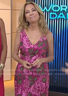 Kathie's pink floral v-neck dress on Today