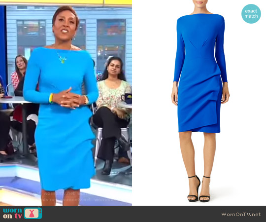 Cassandre Sheath Dress by La Petite Robe di Chiara Boni worn by Robin Roberts on Good Morning America