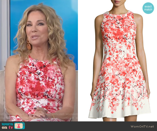 Floral-Print Fit & Flare Dress by Maggy London worn by Kathie Lee Gifford on Today