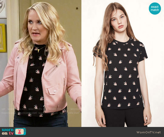 Maje Tami Tee worn by Emily Osment on Young & Hungry