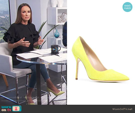 Manolo Blahnik BB 105 Pumps worn by Catt Sadler on E! News