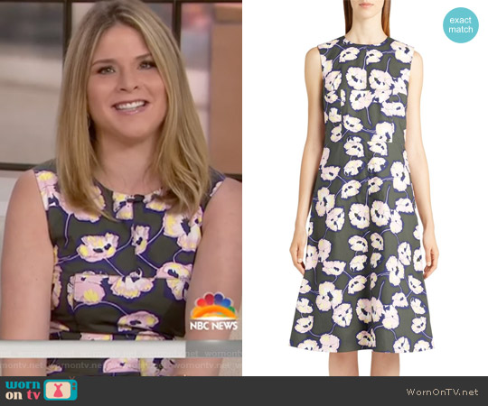 Whisper Print Cotton Dress by Marni worn by Jenna Bush Hager on Today