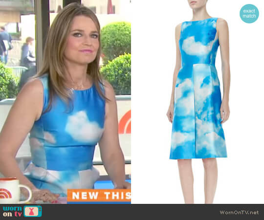 Cloud-Print Dress by Michael Kors worn by Savannah Guthrie on Today