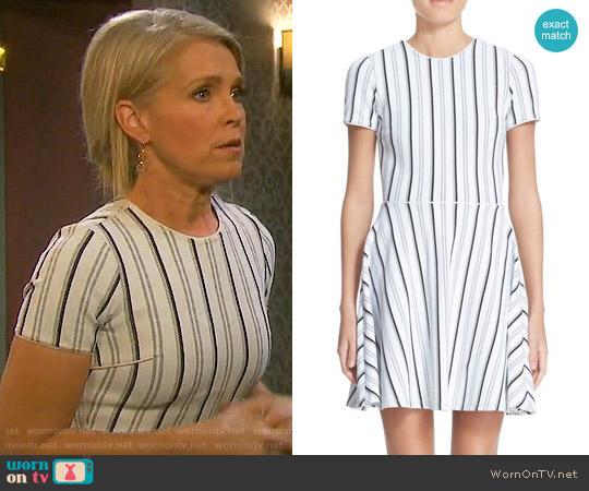 Opening Ceremony Striped Fit & Flare Dress worn by Melissa Reeves on Days of our Lives