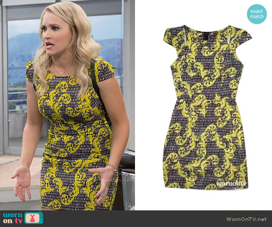 Passion Fusion Vibrant Paisley Dress worn by Gabi Diamond (Emily Osment) on Young & Hungry