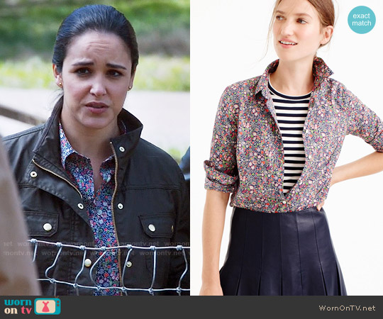 J. Crew Perfect shirt in Liberty® Kayoko floral worn by Amy Santiago (Melissa Fumero) on Brooklyn Nine-Nine
