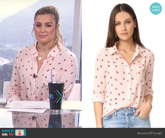 Rails Rocsi Strawberries Button Down Shirt worn by Carissa Loethen Culiner  on E! News