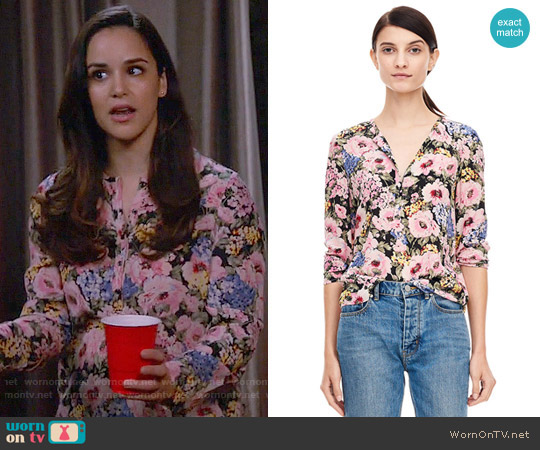Rebecca Taylor Lavinia Rose Top worn by Amy Santiago (Melissa Fumero) on Brooklyn Nine-Nine