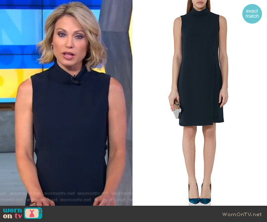 Adie Mock Neck Dress by Reiss worn by Amy Robach on Good Morning America
