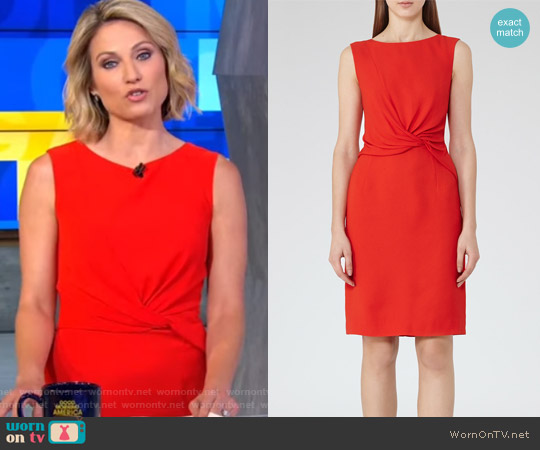 Erica Twist-Front Dress by Reiss worn by Amy Robach  on Good Morning America
