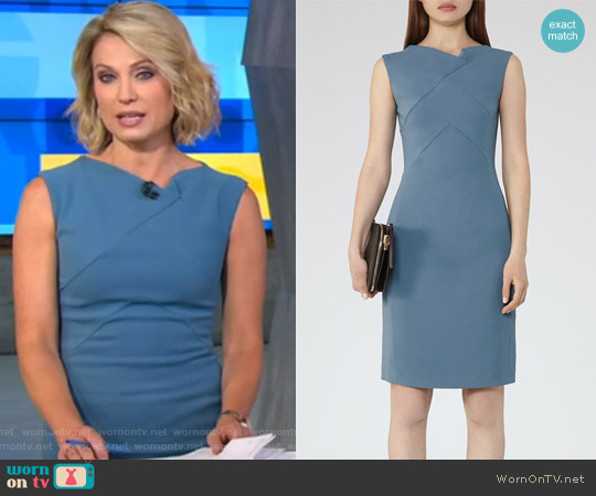 Aiken Tailored Dress by Reiss worn by Amy Robach on Good Morning America