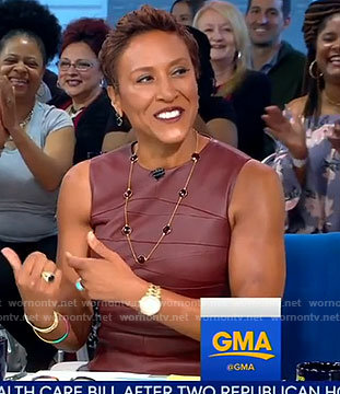 Robin's leather sheath dress on Good Morning America
