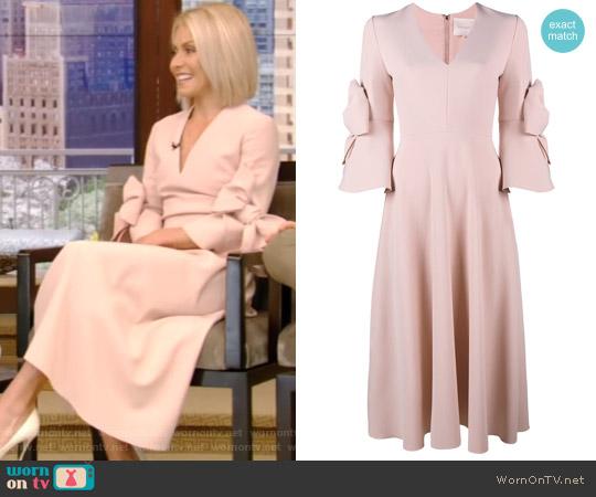 Sibella Bow Embellished Dress by Roksanda worn by Kelly Ripa (Kelly Ripa) on Live with Kelly & Ryan