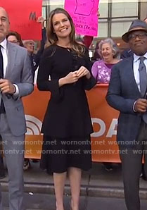 Savannah's black bell cuff dress on Today