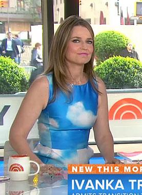 Savannah's cloud print dress on Today