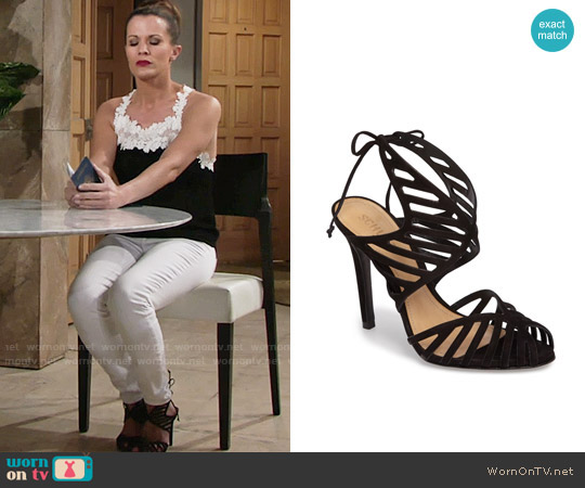 Schutz Anamelia Sandal worn by Chelsea Lawson on The Young & the Restless