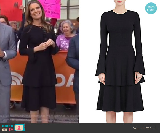 Compact-Knit Fit & Flare Dress by Stella McCartney worn by Savannah Guthrie  on Today