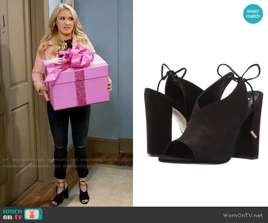 Steve Madden Saffron Mules worn by Emily Osment on Young & Hungry