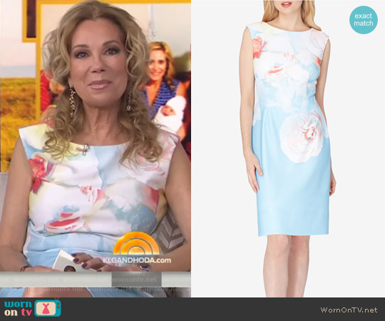 Floral-Print Sheath Dress by Tahari ASL worn by Kathie Lee Gifford on Today