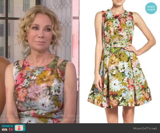 Vintage Floral Fit & Flare Dress by Taylor Dresses worn by Kathie Lee Gifford  on Today