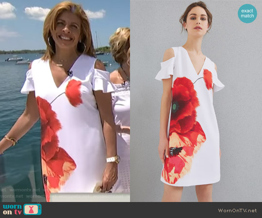 Playful Poppy Cut-out Shoulder Dress by Ted Baker worn by Hoda Kotb  on Today