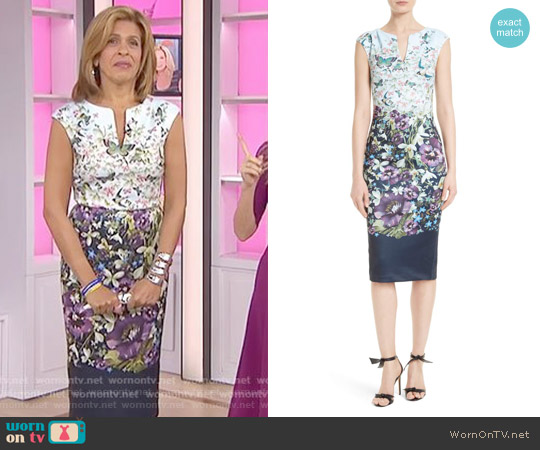 Tiha Floral Print Sheath Dress by Ted Baker worn by Hoda Kotb (Hoda Kotb) on Today
