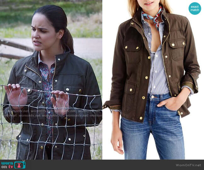 The Downtown Field Jacket in Mossy Brown by J.Crew  worn by Amy Santiago (Melissa Fumero) on Brooklyn Nine-Nine