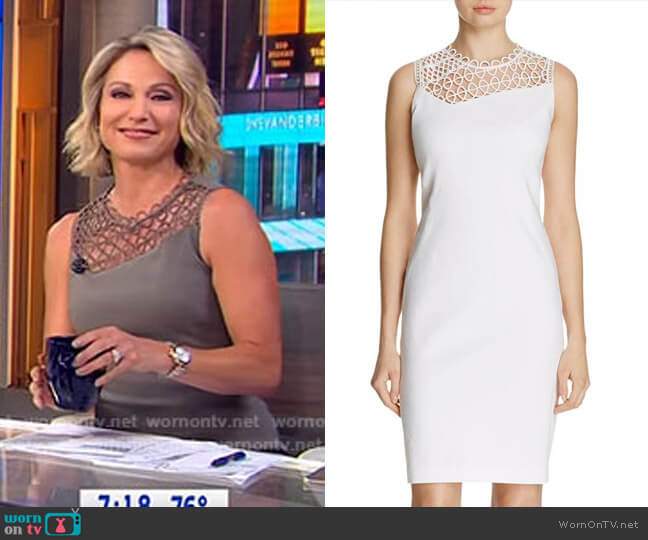 'Tina' Dress by Elie Tahari  worn by Amy Robach on Good Morning America