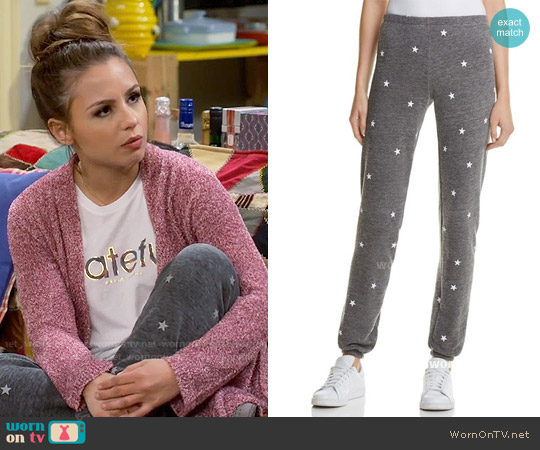 Wildfox Football Star Knox Sweatpants worn by Sofia Rodriguez on Young & Hungry