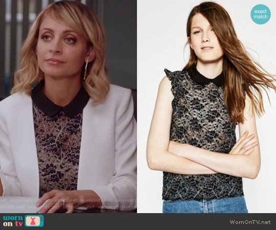 Lace Top by Zara worn by Portia Scott-Griffith (Nicole Richie) on Great News