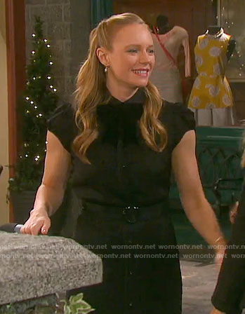 Abby's black shirtdress on Days of our Lives