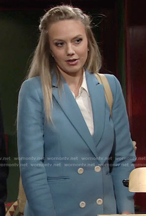 Abby's blue suit on The Young and the Restless