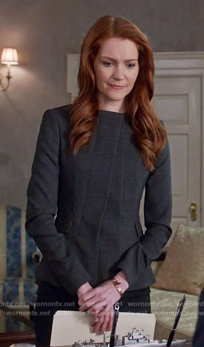 Abby's grey jacket on Scandal