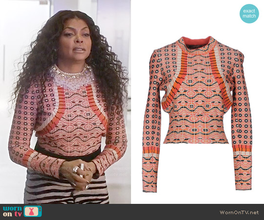 Alaia Printed Sweater worn by Taraji P. Henson on Empire