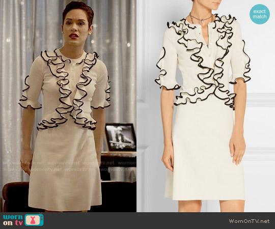 Alexander McQueen Ruffled Wool Dress worn by Anika Calhoun (Grace Gealey) on Empire