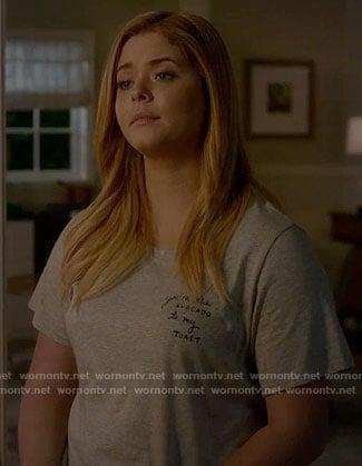 Ali's avocado toast t-shirt on Pretty Little Liars